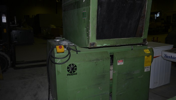 Used Rapid 1824KU Grinder with Blower and Cyclone